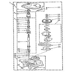 1109219551 Automatic Washer Gearcase Parts diagram