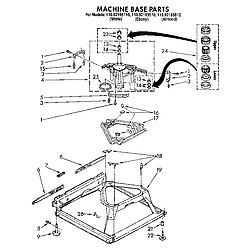 1109219551 Automatic Washer Machine base Parts diagram