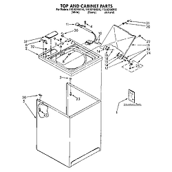 1109219551 Automatic Washer Top and cabinet Parts diagram