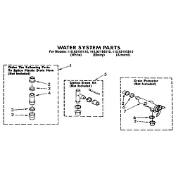 1109219551 Automatic Washer Water system Parts diagram