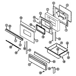 3468VVV Range Door/drawer (3468vv*, 3468xv*) (3468vvd) (3468vvv) (3468xva) (3468xvw) Parts diagram