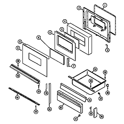 3468VVV Range Door/drawer (3468vv*, xv* ser. pre.15) (3468vvd) (3468vvv) (3468xva) (3468xvw) Parts diagram