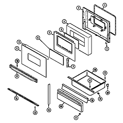 3468VVV Range Door/drawer (3468xvb) (3468xvb) Parts diagram