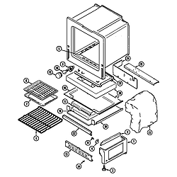 3468VVV Range Oven/base Parts diagram