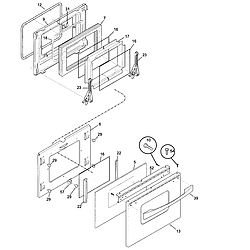 79046803992 Elite Electric Slide-In Range Door Parts diagram