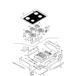 79046803992 Elite Electric Slide-In Range Top/drawer Parts diagram