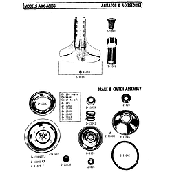 A806 Washer Agitator and accessories Parts diagram