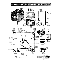 A806 Washer Motor mount Parts diagram