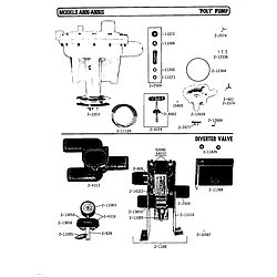 A806 Washer Poly pump Parts diagram