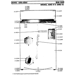 A806 Washer Rear view Parts diagram