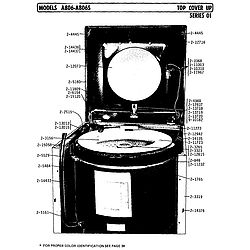 A806 Washer Top cover up series o1 Parts diagram