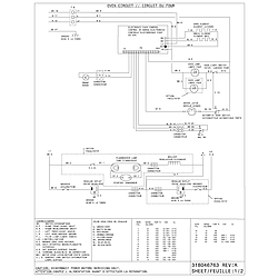 CFEF372CS2 Electric Range Diagram Parts diagram