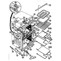 CMT21 Combination Oven Body and accessory Parts diagram
