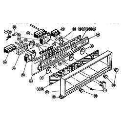 CMT21 Combination Oven Control panel Parts diagram