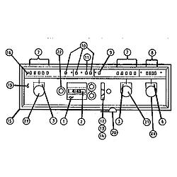 CMT21 Combination Oven Control Parts diagram