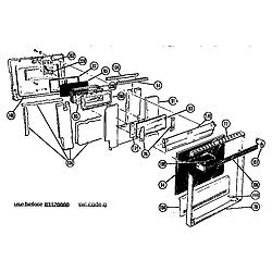 CMT21 Combination Oven Generic shutter type door Parts diagram