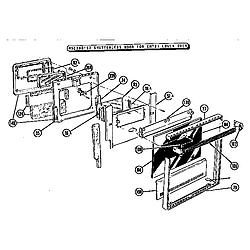 CMT21 Combination Oven Shutterless door for lower oven Parts diagram