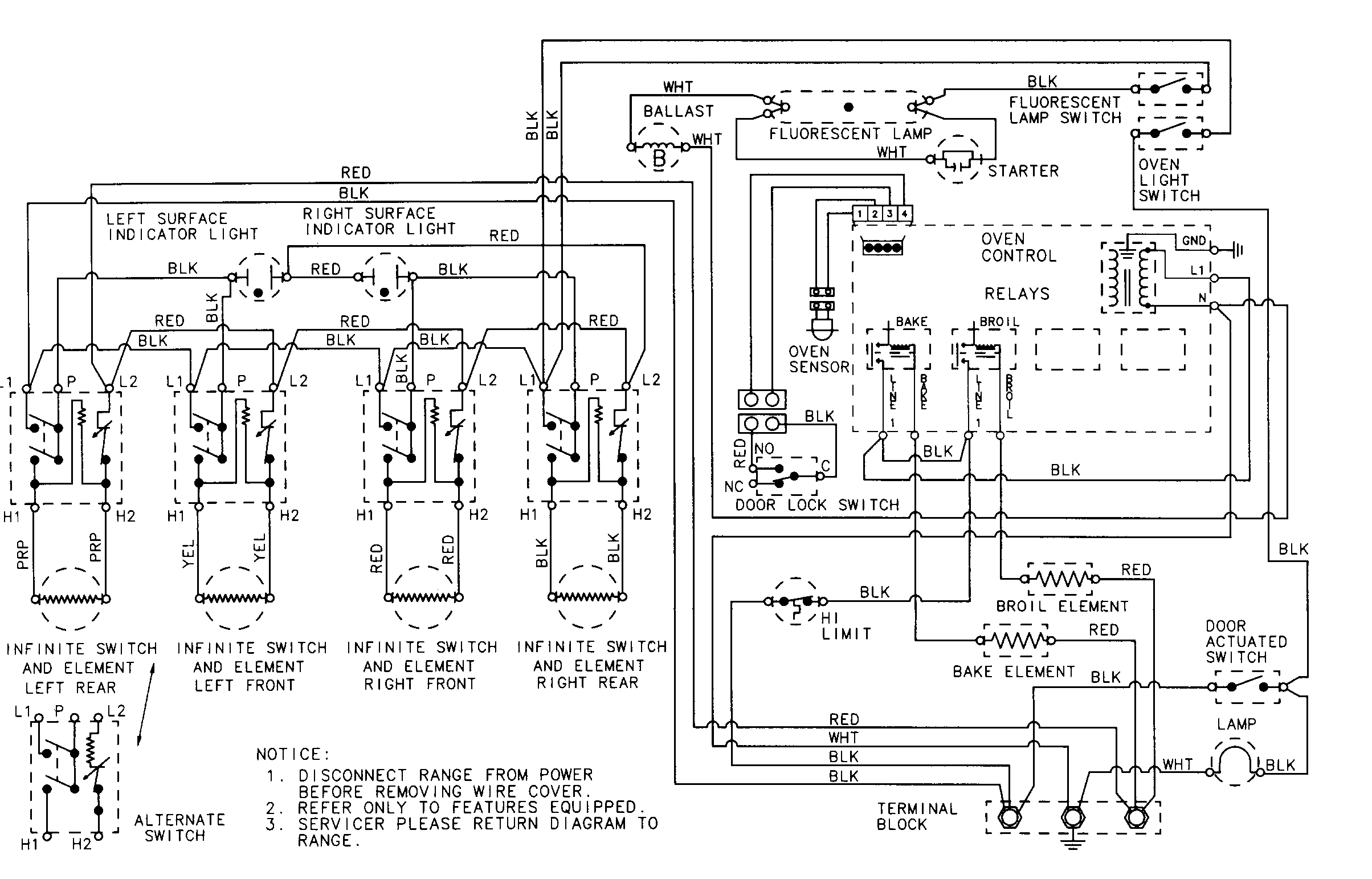 whirlpool cooktop wiring diagrams