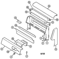 CRG9800AAE Range Control panel Parts diagram