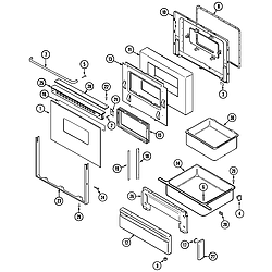 CRG9800AAE Range Door/drawer Parts diagram