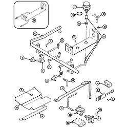 CRG9800AAE Range Gas controls Parts diagram