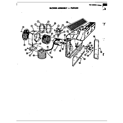 D120 Range Blower assembly (plenum) Parts diagram