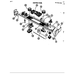 D120 Range Control panel Parts diagram