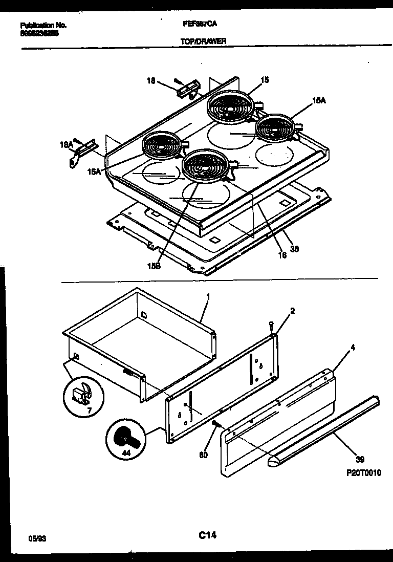 frigidaire fef367cata range - electric timer