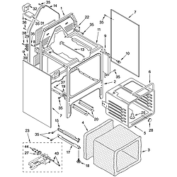 GJP85802 Free Standing - Electric Oven chassis Parts diagram