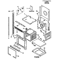 GMC275PDB1 Electric Oven Microwave Combo Oven Parts diagram