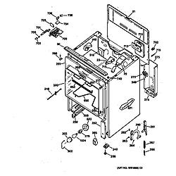 JBP65GS1WH Electric Range Body Parts diagram