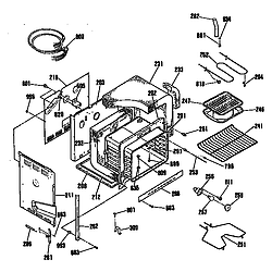JDP36GP Electric Range Oven assembly Parts diagram