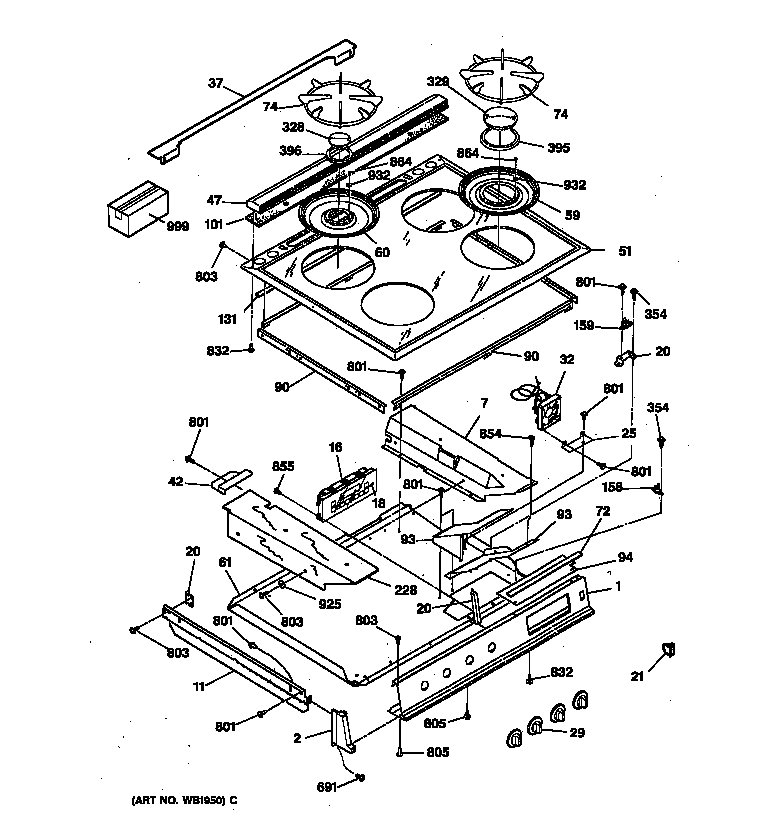 wiring diagram for ge cooktop  wiring  get free image