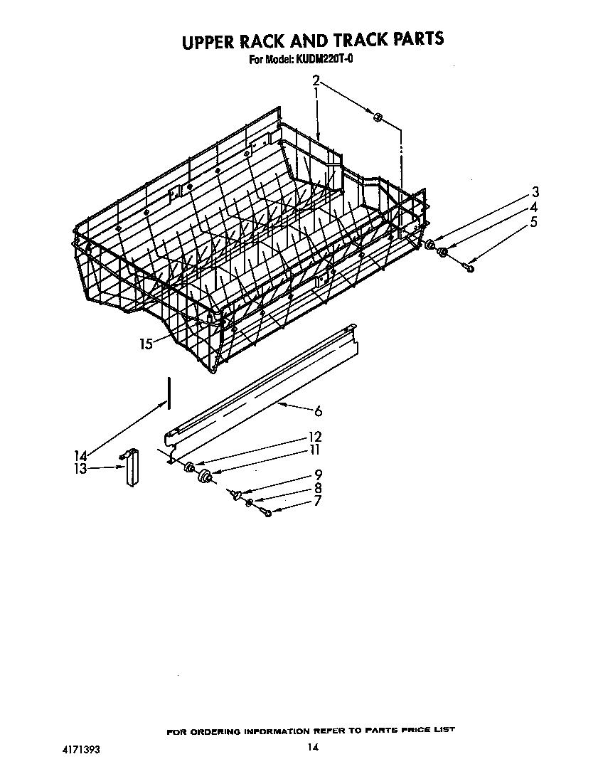 Kitchenaid kudm220t0 timer stove clocks and appliance timers - Kitchenaid dishwasher upper rack parts ...