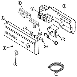 MDB6000AWA Dishwasher Control panel Parts diagram