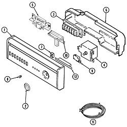 MDB6000AWA Dishwasher Control panel Parts diagram