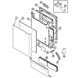 MDB6000AWA Dishwasher Door Parts diagram
