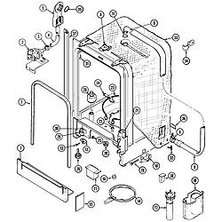 MDB6000AWA Dishwasher Tub Parts diagram
