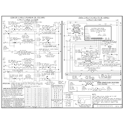 PLES389DCC Electric Range Wiring diagram Parts diagram