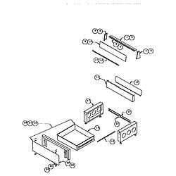 RDDS30 Range Storage drawer and base Parts diagram