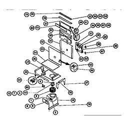 RDSS30 Range Downdraft and vtn30rq blower Parts diagram