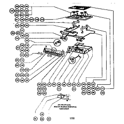 RDSS30 Range Gas burner box assembly Parts diagram