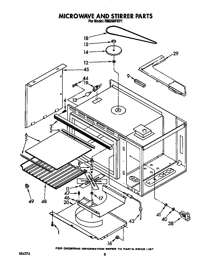 Fabulous Whirlpool Microwave Parts Diagram 864 X 1093 21 Kb Png