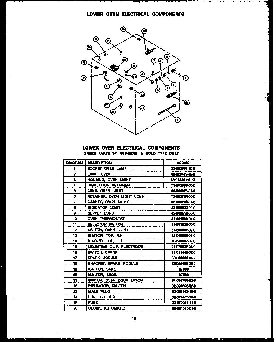 dacor rsd30 gas ranges timer