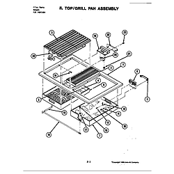 S120 Range Top assembly Parts diagram