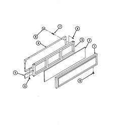 S136C Range Access panel Parts diagram