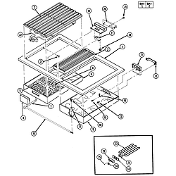 S136C Range Top assembly Parts diagram