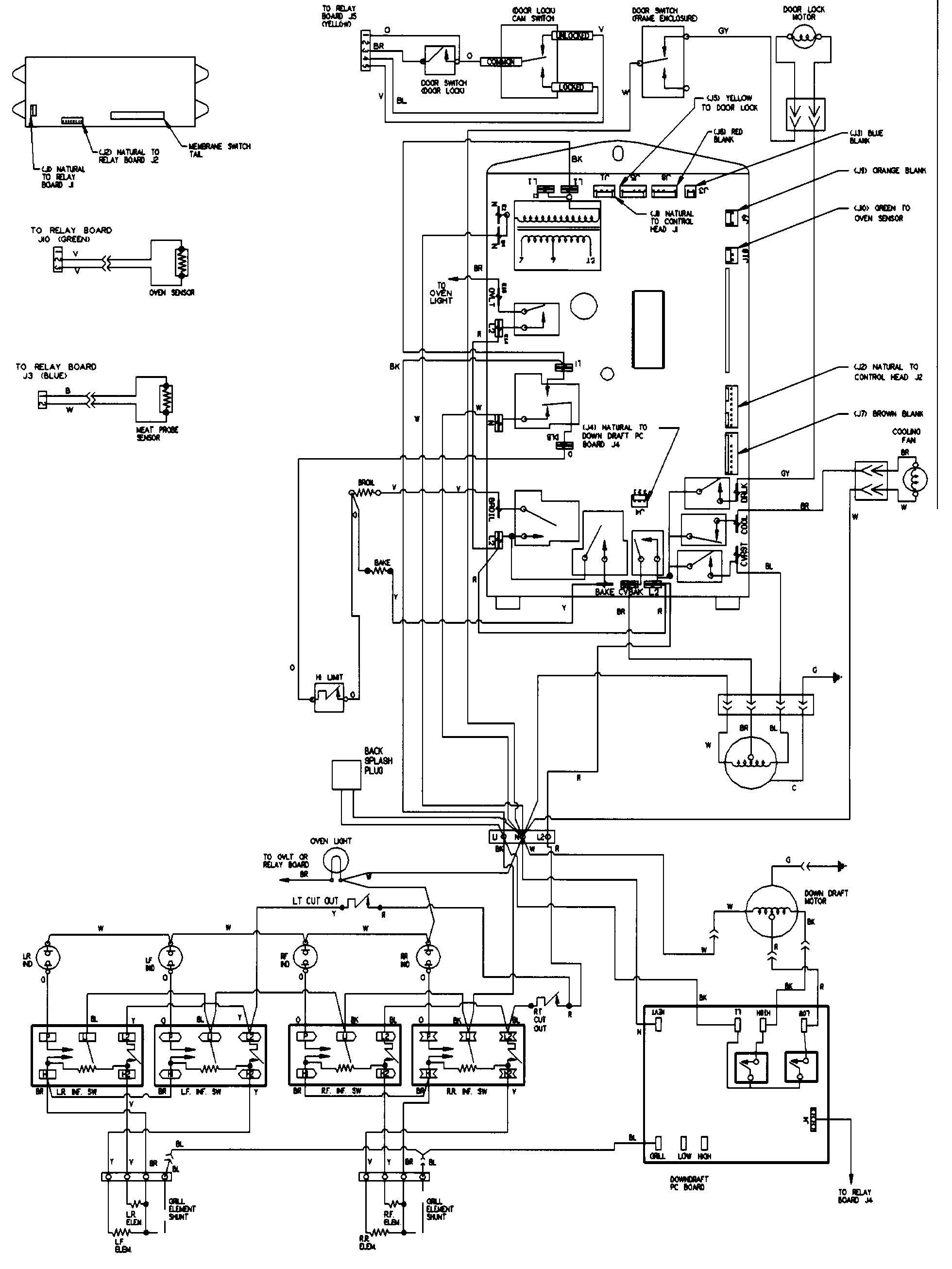 wiring diagram for defy gemini oven