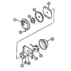 Jenn Air W2750w Electric Wall Oven Timer Stove Clocks
