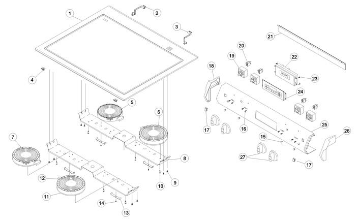 Amana ACS4250AW Range Schematic Diagram
